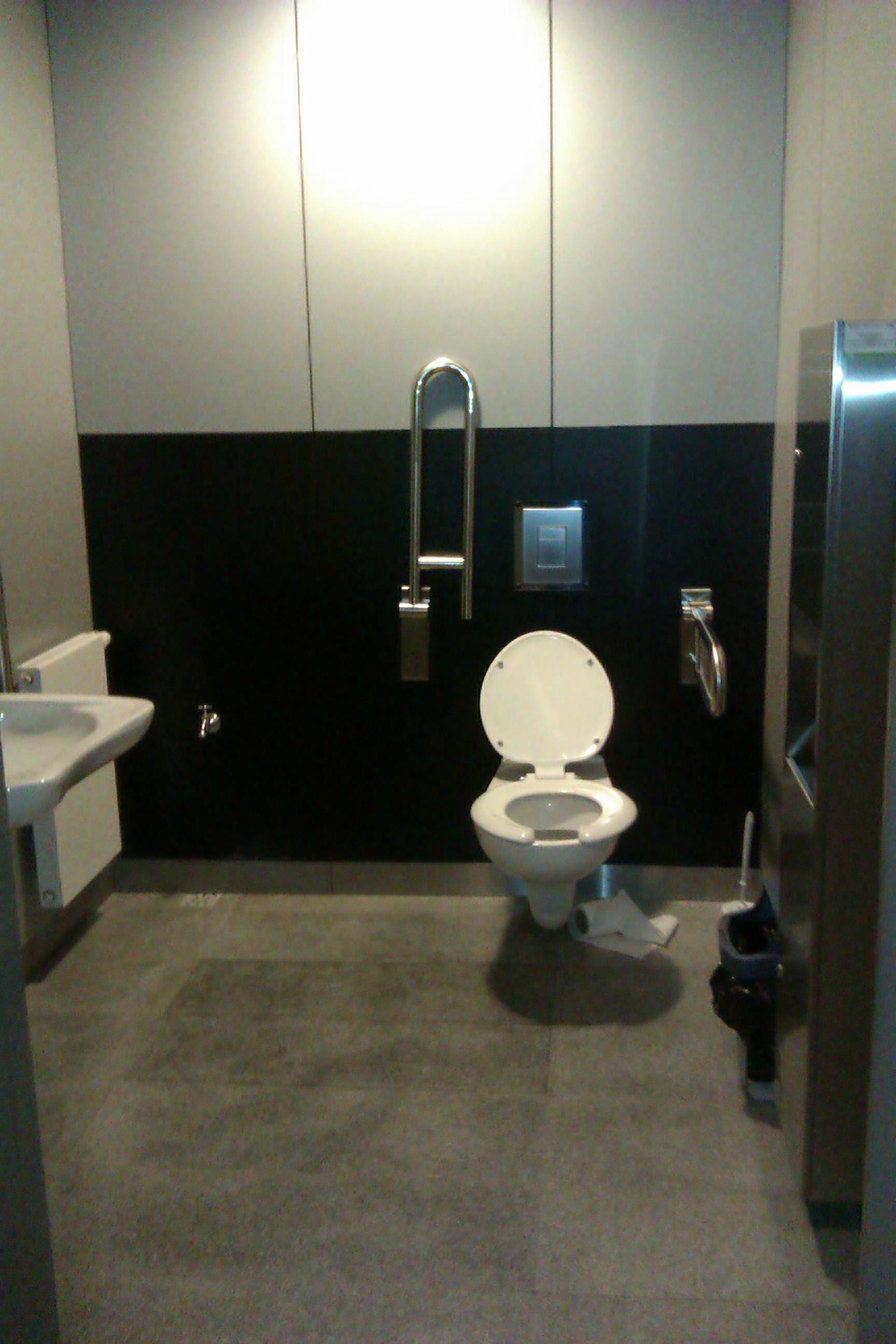 Pomieszczenia - toalety dla niepełnosprawnych filharmonia świętokrzyska