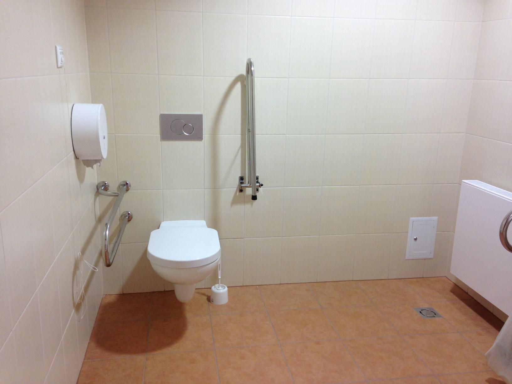 Wnętrze toalety dla niepełnosprawnych