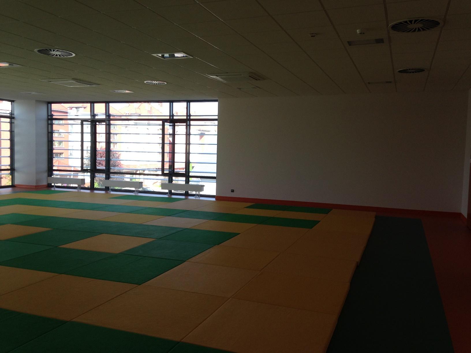 Wnętrze sali do gimnastyki