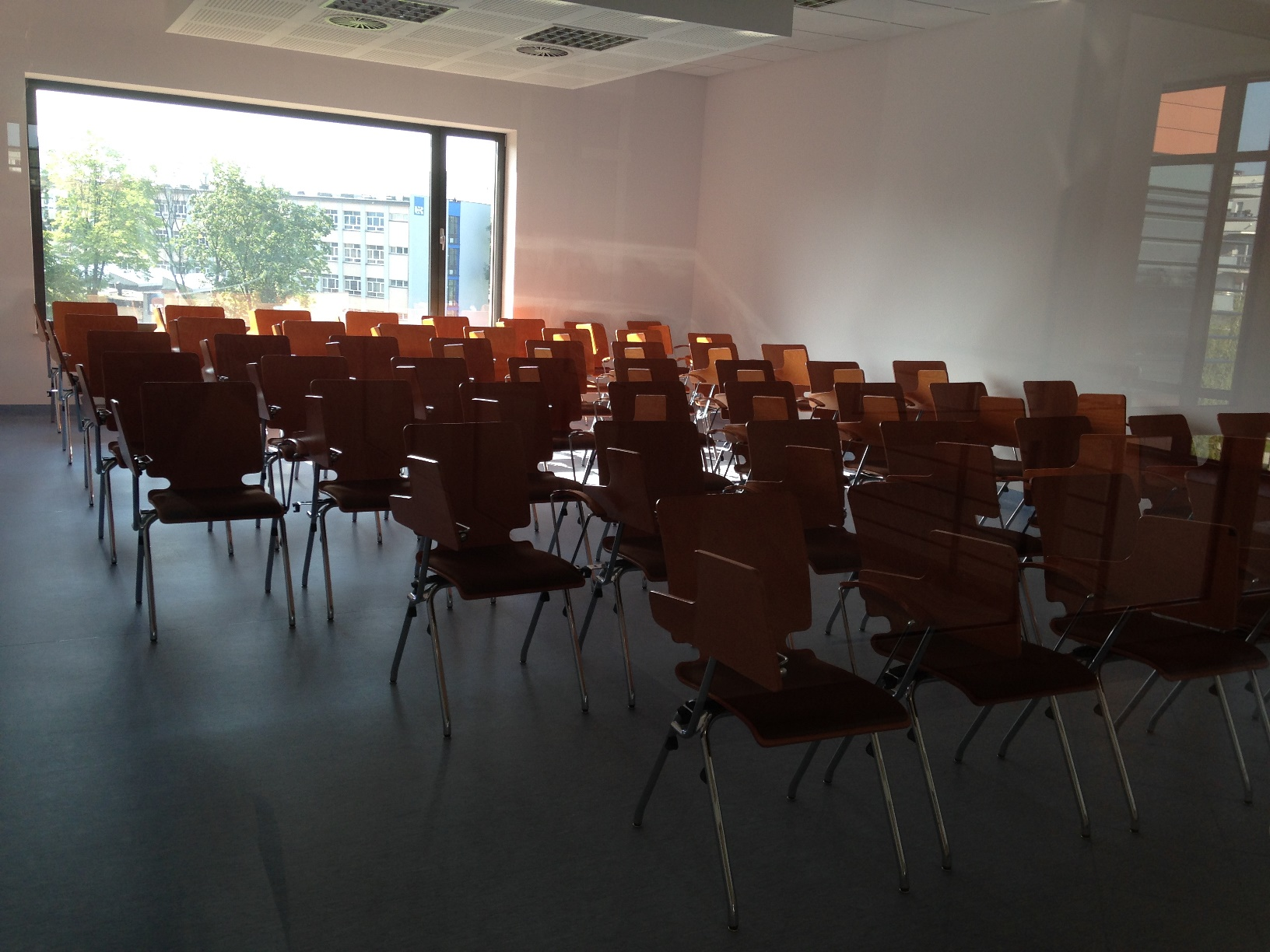 Wnętrze sali wykładowej B.