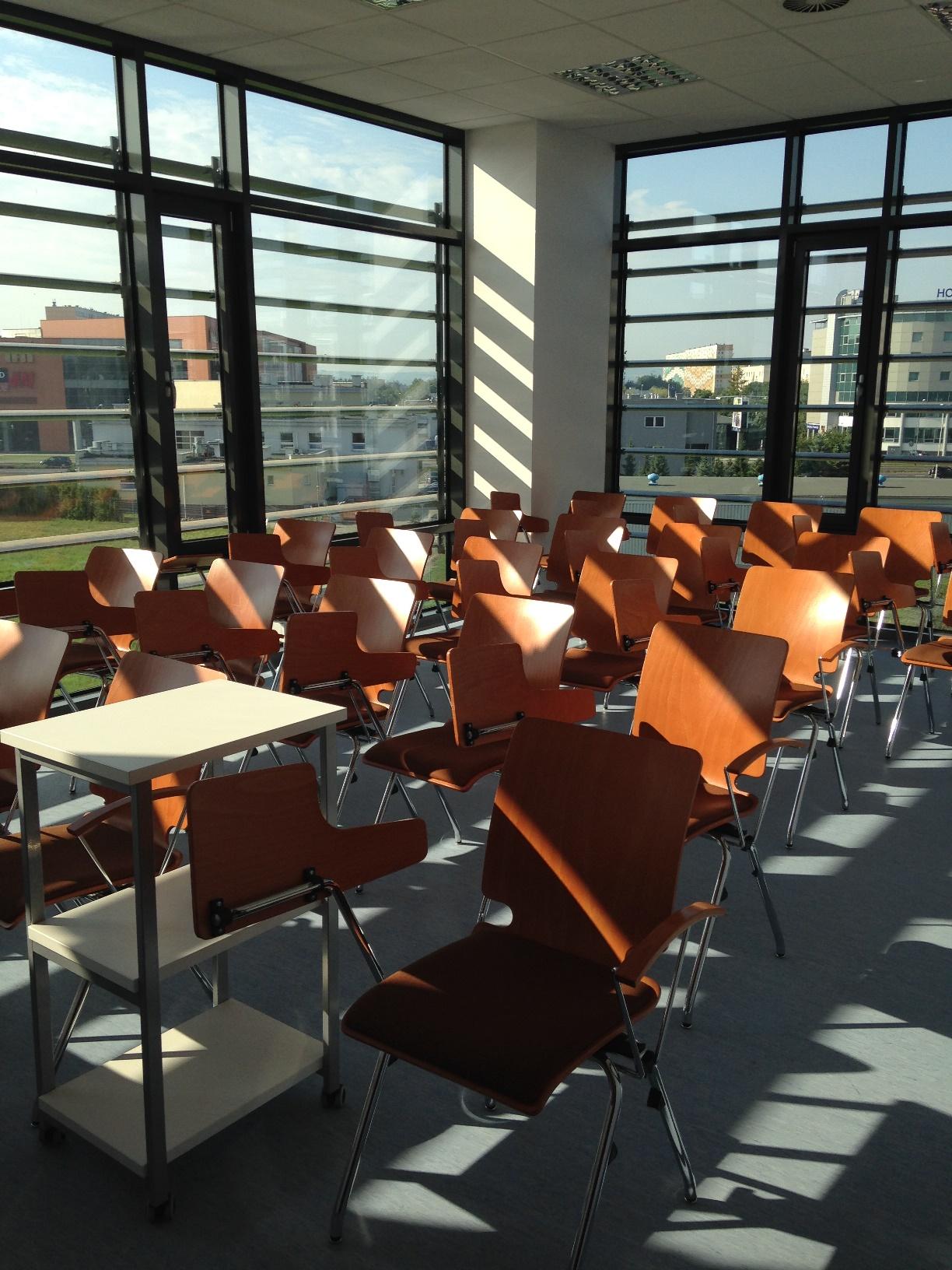 Wnętrze sali wykładowej C.