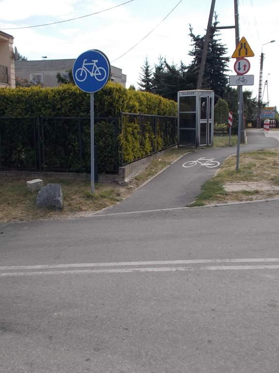 Początek drogi rowerowej - Złotoria