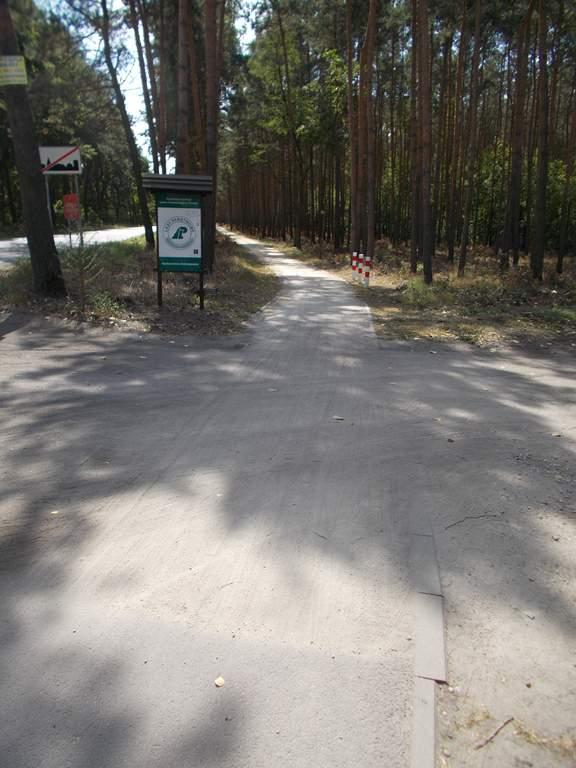 Wjazd na teren Lasów Państwowych - zmiana nawierzchni